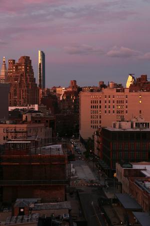 New York City Manhattan against sunset sky Reklamní fotografie