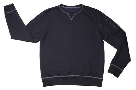 Dark blue sweater isolated on white background