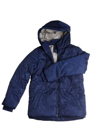 Children's winter jacket isolated on white background Stock Photo