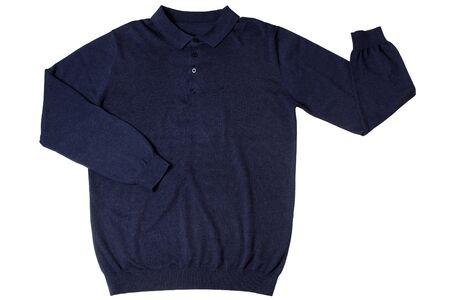 Blue male shirt isolated on white background Stock Photo