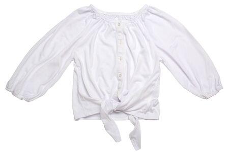 Child girl fashion blouse isolated on white background