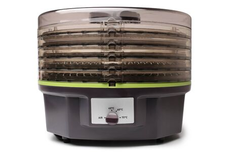 Electric food dehydrator on white background 版權商用圖片
