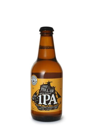 ST. PETERSBURG, RUSSIA - JANUARY 05, 2020: Bottle of Brutal Brewing A Ship Full Of IPA, Sweden