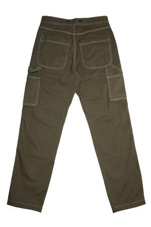 Men's jeans isolated on white background 版權商用圖片