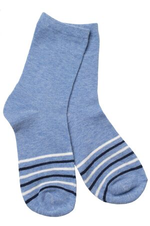 Pair of socks isolated on white background Stock Photo
