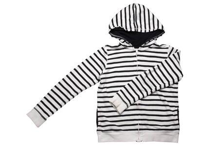 Children's wear - hooded jacket isolated on white background Stock Photo