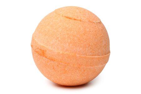Aromatic bath bomb on white background