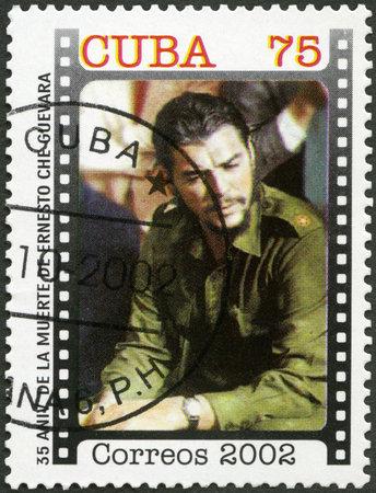 CUBA - CIRCA 2002: A stamp printed in Cuba shows commander Ernesto Guevara de la Serna Che Guevara (1928-1967), Revolutionary Leader, circa 2002