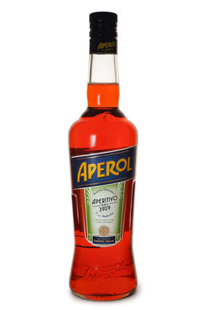 ST. PETERSBURG, RUSSIA - MAY 28, 2020: Bottle of Aperol Aperitivo, Italy Editorial