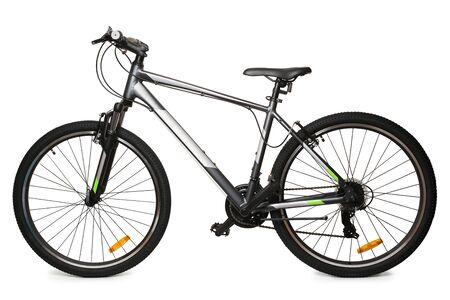 Neues Fahrrad auf weißem Hintergrund Standard-Bild