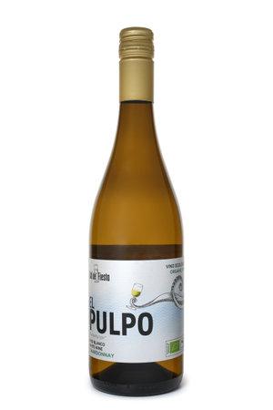 ST. PETERSBURG, RUSSIA - MAY 09, 2020: Bottle of Sol de Fiesta El Pulpo