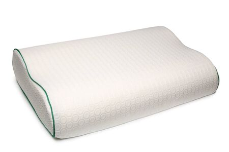 Orthopedic pillow on white background