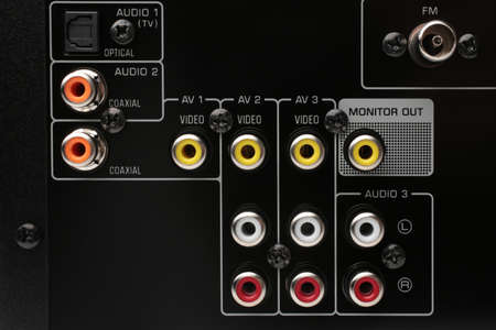 Audio-Video Receiver back panel