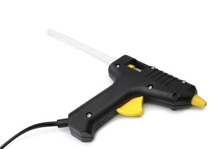 Hot glue gun on white background