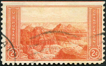 USA - CIRCA 1934: A stamp printed in USA shows Grand Canyon, Arizona, National Parks Issue, circa 1934