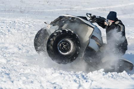 quad: Quad bike in snow