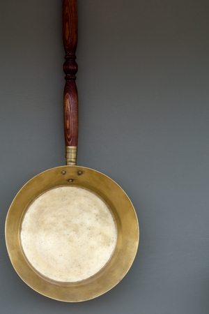 frying pan: Old copper frying pan