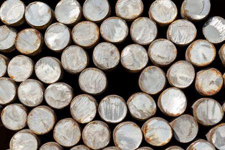 round rods: round metal Stock Photo