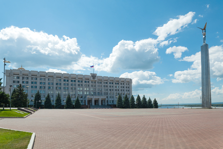 house of the government of Samara region on the square fame