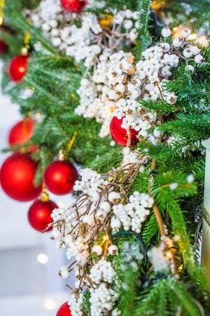 pleasing: Decorated Christmas tree closeup