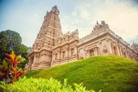 pallava: Beautiful Hindu temple in Malaysia Stock Photo