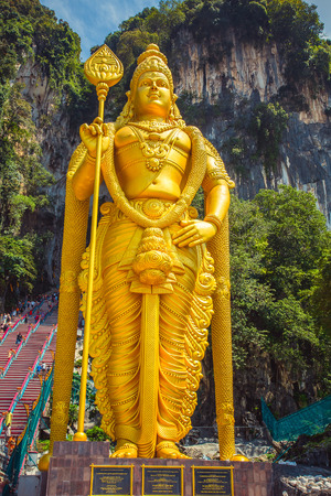Batu Cave, statue god Murugan, Kuala Lumpur, Malaysia Stock Photo