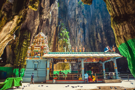 Hinduism statue of temple at Batu Caves in Kuala Lumpur, Malaysia Stock Photo