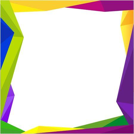 colorful frame: Colorful frame blank background Design Concept