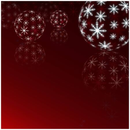 christmas backdrop: Winter Holiday red Background. Christmas Abstract Defocused Backdrop with Snowflakes. Christmas decorations