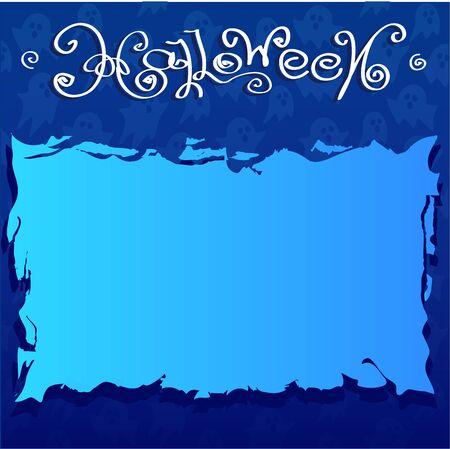 brings: Halloween blue background with brings