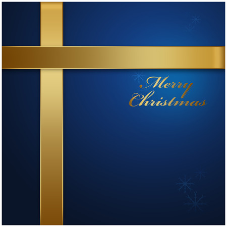 holiday background: Merry Christmas blue background, holiday season concept Stock Photo
