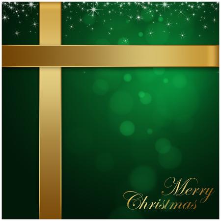 holiday season: Merry Christmas green background, holiday season concept