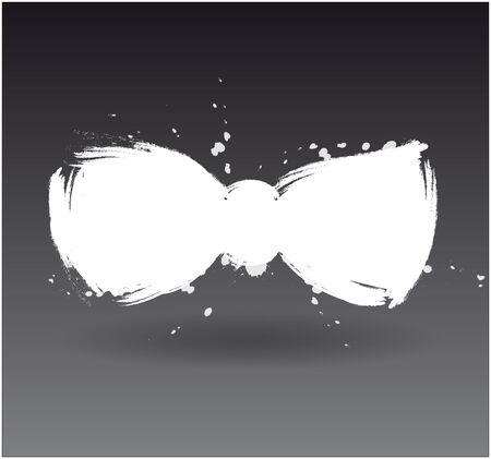 brushwork: brushwork white bow on dark background