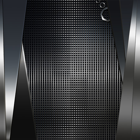 metal sheet: Abstract dark metal background. illustration.