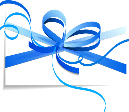 blue bow: Blue bow isolated on white background