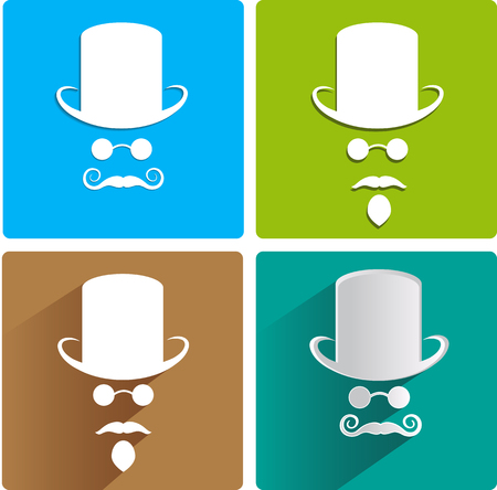 cowboy beard: four variants of the invisible men
