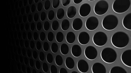 speaker grille pattern: Black speaker lattice background, close-up