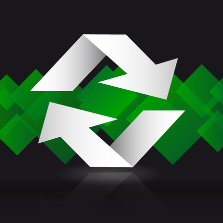 application recycle: Arrows  background. Background withe arrows. Illustration