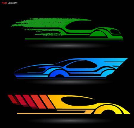 spare part: Auto Company Logo Vector Design Concept with Sports Car