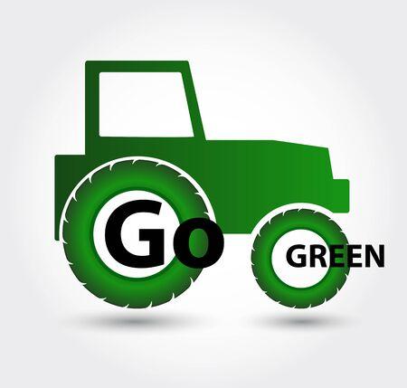 eco friendly icon: Icon go green. Green eco friendly icon. Illustration