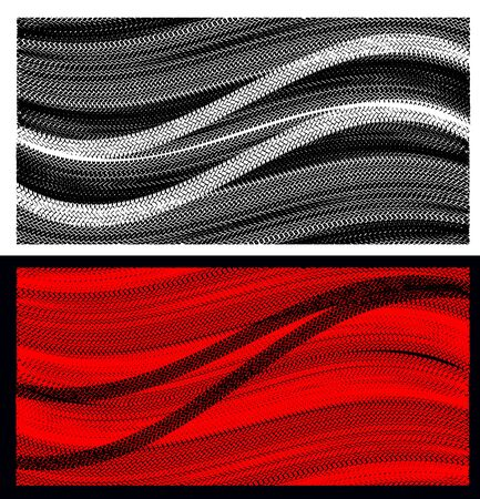 skidding: Tire marks on a white background.Tire marks on a red background. Illustration