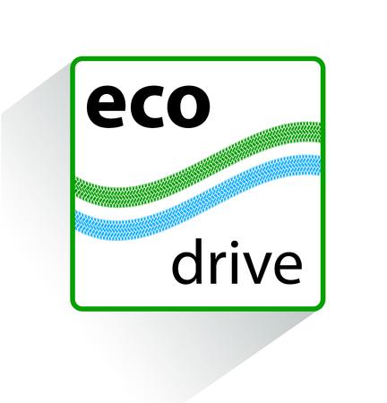 eco friendly icon: Icon eco drive. Green eco friendly icon.