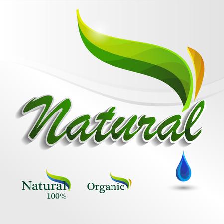 Set  Eco design template elements, natural icon, organic icon Illusztráció