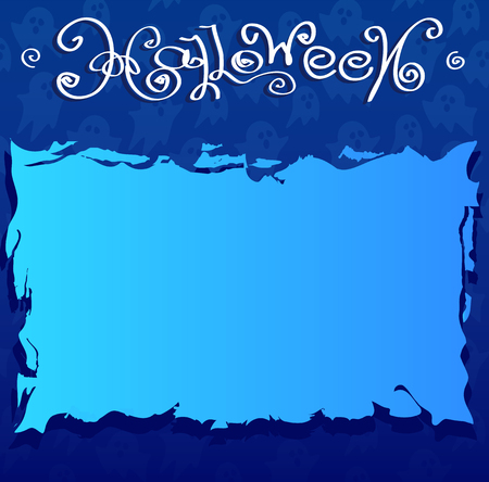 halloween background: Halloween blue background with brings