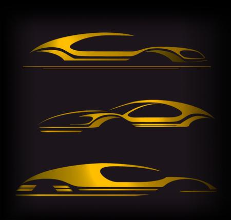 Conception Auto Company Logo Concept avec voiture de sport Banque d'images - 54503062