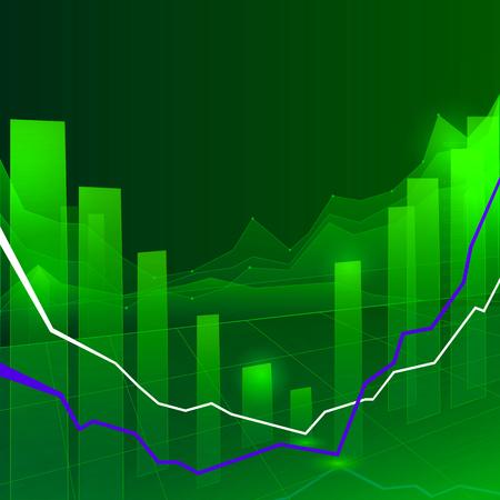 nasdaq: Stock Market Graph and Bar Chart