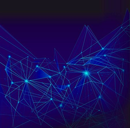 background light: Abstract mesh background with triangle, lines and shapes