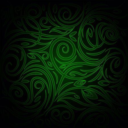 green background: Green dark Background. Red pattern.