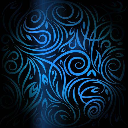 Antecedentes de color azul oscuro. Modelo azul.