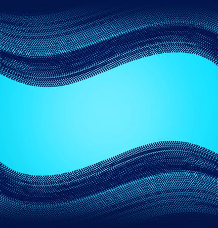 tire marks on a blue background Stock Photo